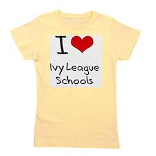 I Love Ivy League Schools Girl's Tee
