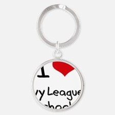 I Love Ivy League Schools Round Keychain