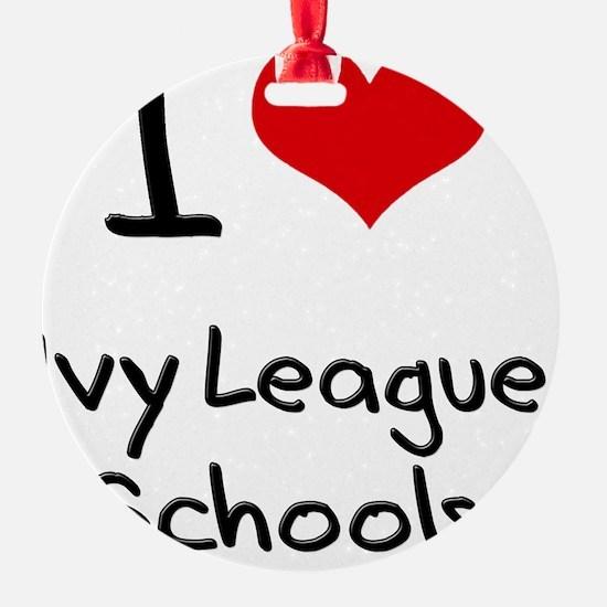 I Love Ivy League Schools Ornament
