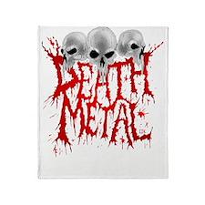 Death Metal Throw Blanket