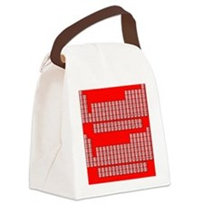 Deluxe Periodic Table (red) Canvas Lunch Bag