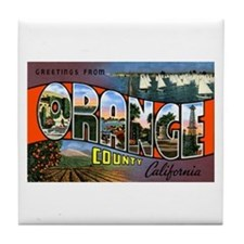 Orange County California Tile Coaster