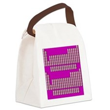Deluxe Periodic Table (purple) Canvas Lunch Bag