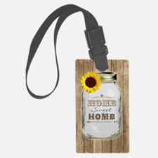 Home Sweet Home Rustic Mason Jar Luggage Tag