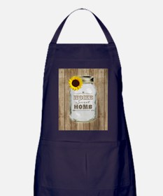 Home Sweet Home Rustic Mason Jar Apron (dark)