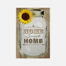 Home Sweet Home Rustic Mason Jar Rectangle Magnet