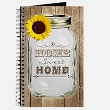 Home Sweet Home Rustic Mason Jar Journal
