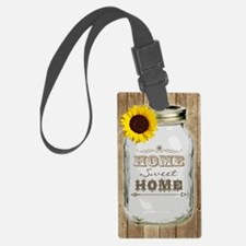 Home Sweet Home Rustic Mason Jar Luggage Tag