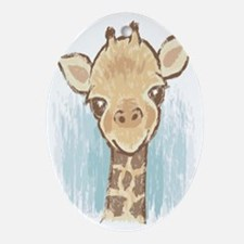 Sweet Giraffe Oval Ornament