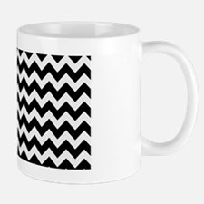 Chevron Black and W... Mug