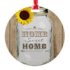 Home Sweet Home Rustic Mason Jar Ornament