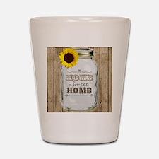 Home Sweet Home Rustic Mason Jar Shot Glass