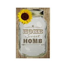 Home Sweet Home Rustic Mason Jar Rectangle Magnet