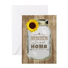 Home Sweet Home Rustic Mason Jar Greeting Card