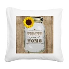 Home Sweet Home Rustic Mason  Square Canvas Pillow