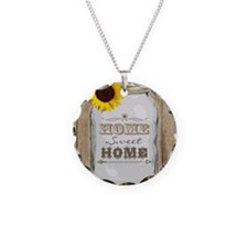 Home Sweet Home Rustic Mason Necklace