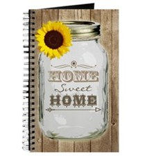 Home Sweet Home Rustic Mason Jar Journal