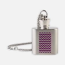 Chevron Purple Flask Necklace