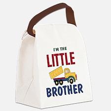 Little Brother Dump Truck Canvas Lunch Bag