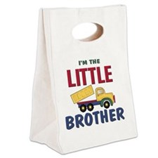 Little Brother Dump Truck Canvas Lunch Tote