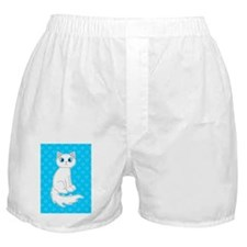 Cute Ragdoll Cat - White with Blue Ey Boxer Shorts