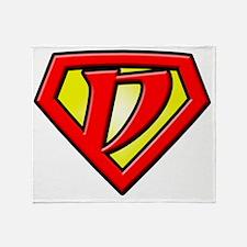 Super_D Throw Blanket