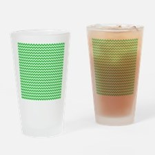 Chevron Green Drinking Glass