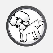 Cute White Poodle Wall Clock