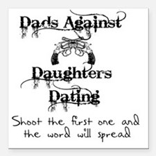 """Dads Against Daughters D Square Car Magnet 3"""" x 3"""""""
