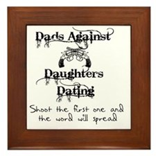 Dads Against Daughters Dating Framed Tile