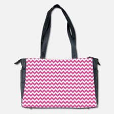Chevron Pink Diaper Bag