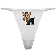 Cute Yorkshire Terrier Dog Classic Thong