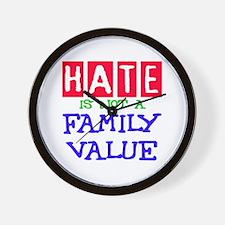 NO HATE Wall Clock