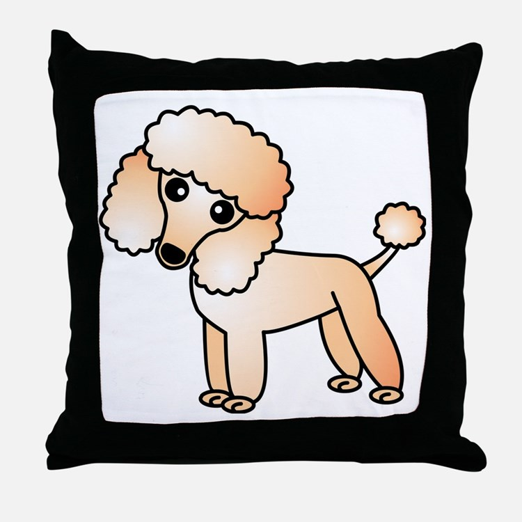 Cute Apricot Poodle Throw Pillow