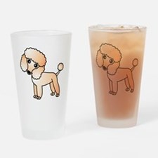 Cute Apricot Poodle Drinking Glass