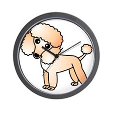 Cute Apricot Poodle Wall Clock