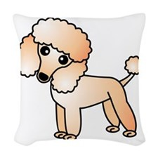 Cute Apricot Poodle Woven Throw Pillow