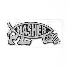 HashFish - Hasher - BW Aluminum License Plate