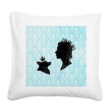 Queen and Corgi Square Canvas Pillow