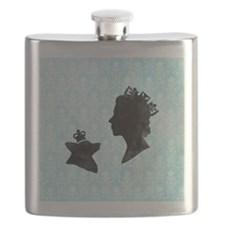 Queen and Corgi Flask