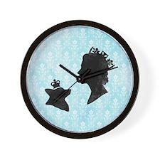 Queen and Corgi Wall Clock
