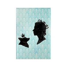 Queen and Corgi Rectangle Magnet