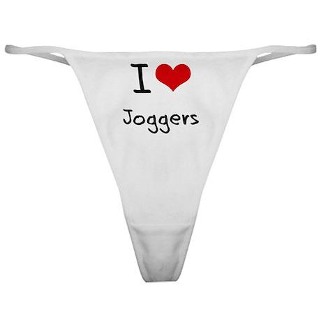I Love Joggers Classic Thong