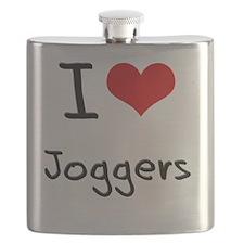 I Love Joggers Flask