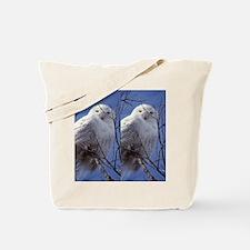 Snowy White Owl, Blue Sky Tote Bag