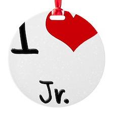 I Love Jr. Ornament