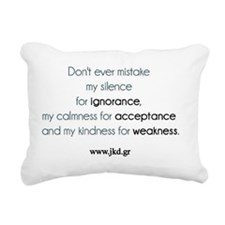 Dont ever... Rectangular Canvas Pillow