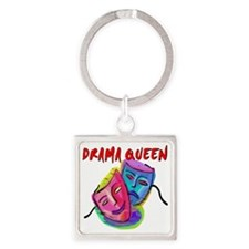 Drama Queen Square Keychain