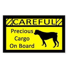 Precious Cargo Am Bulldog Rectangle Decal