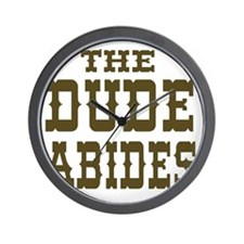 The Dude Abides Wall Clock
